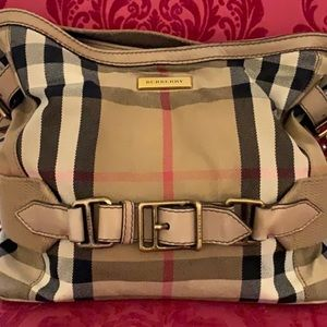 Authentic Italian Canvas Burberry Bag